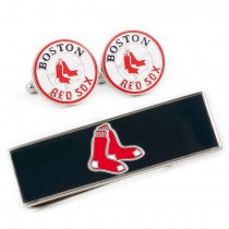 Boston Red Sox Officially Licensed Cufflinks Money Clip Gift Set