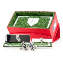 Chicago White Sox Officially Licensed Cufflinks Money Clip Tie Bar Gift Set