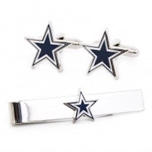 Dallas Cowboys Officially Licensed Cufflinks Tie Bar Gift Set