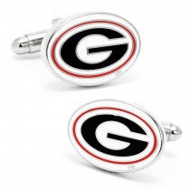 Georgia Bulldogs Officially Licensed Cufflinks Tie Bar Gift Set