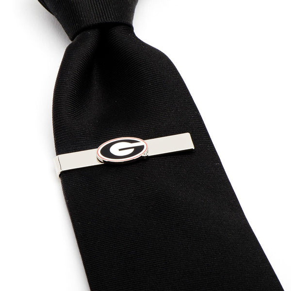 Georgia Bulldogs Officially Licensed Cufflinks Money Clip Tie Bar Gift Set