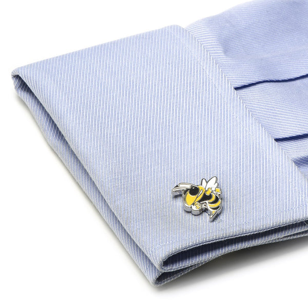 Georgia Tech Yellow Jackets Officially Licensed Cufflinks Money Clip Tie Bar Gift Set