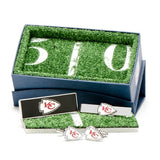 Kansas City Chiefs Officially Licensed Cufflinks Money Clip Tie Bar Gift Set