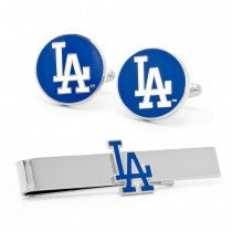 LA Dodgers Officially Licensed Cufflinks Tie Bar Gift Set