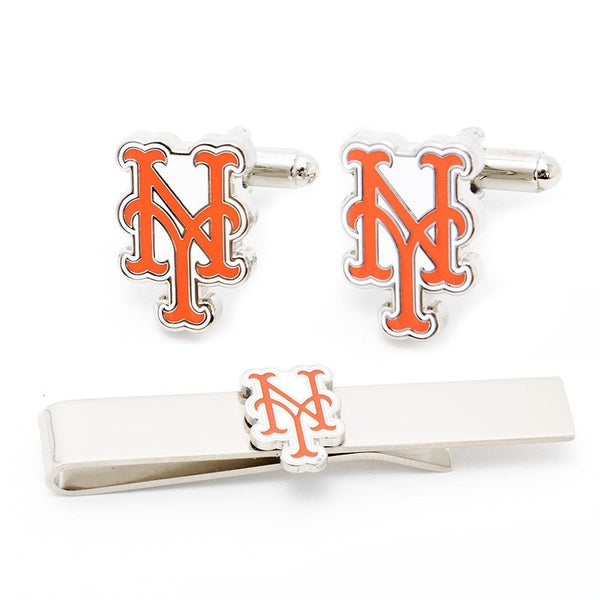 NY Mets Officially Licensed Cufflinks Tie Bar Gift Set