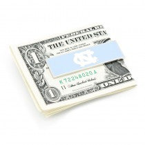 North Carolina Tarheels Officially Licensed Cufflinks Money Clip Gift Set