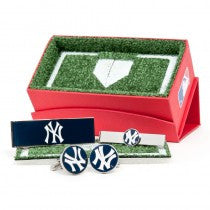 New York Yankees Officially Licensed Cufflinks Money Clip Tie Bar Gift Set