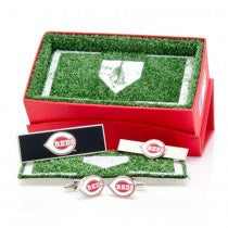 Cincinnati Reds Officially Licensed Cufflinks Money Clip Tie Bar Gift Set