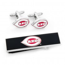 Cincinnati Reds Officially Licensed Cufflinks Money Clip Gift Set