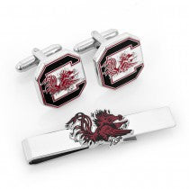 South Carolina Gamecocks Officially Licensed Cufflinks Tie Bar Gift Set