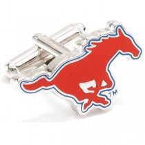 SMU Mustangs Officially Licensed Cufflinks Money Clip Gift Set