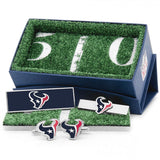 Houston Texans Officially Licensed Cufflinks Money Clip Tie Bar Gift Set