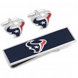 Houston Texans Officially Licensed Cufflinks Money Clip Gift Set