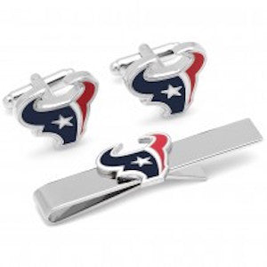 Houston Texans Officially Licensed Cufflinks Tie Bar Gift Set