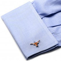 Texas Longhorns Officially Licensed Cufflinks Tie Bar Gift Set