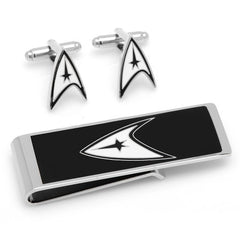 Star Trek Delta Shield Officially Licensed Cufflink-Money Clip Gift Set with Gift Box