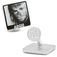 "Star Wars Chewbacca ""Argh!"" Cufflinks Officially Licensed"