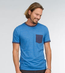 Threads 4 Thought Slub Ringer Crew Tee Victoria Blue Navy