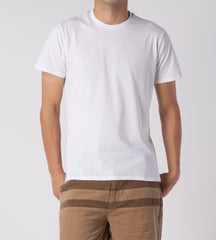 Threads 4 Thought Solid Crew Neck Organic Cotton Tee White