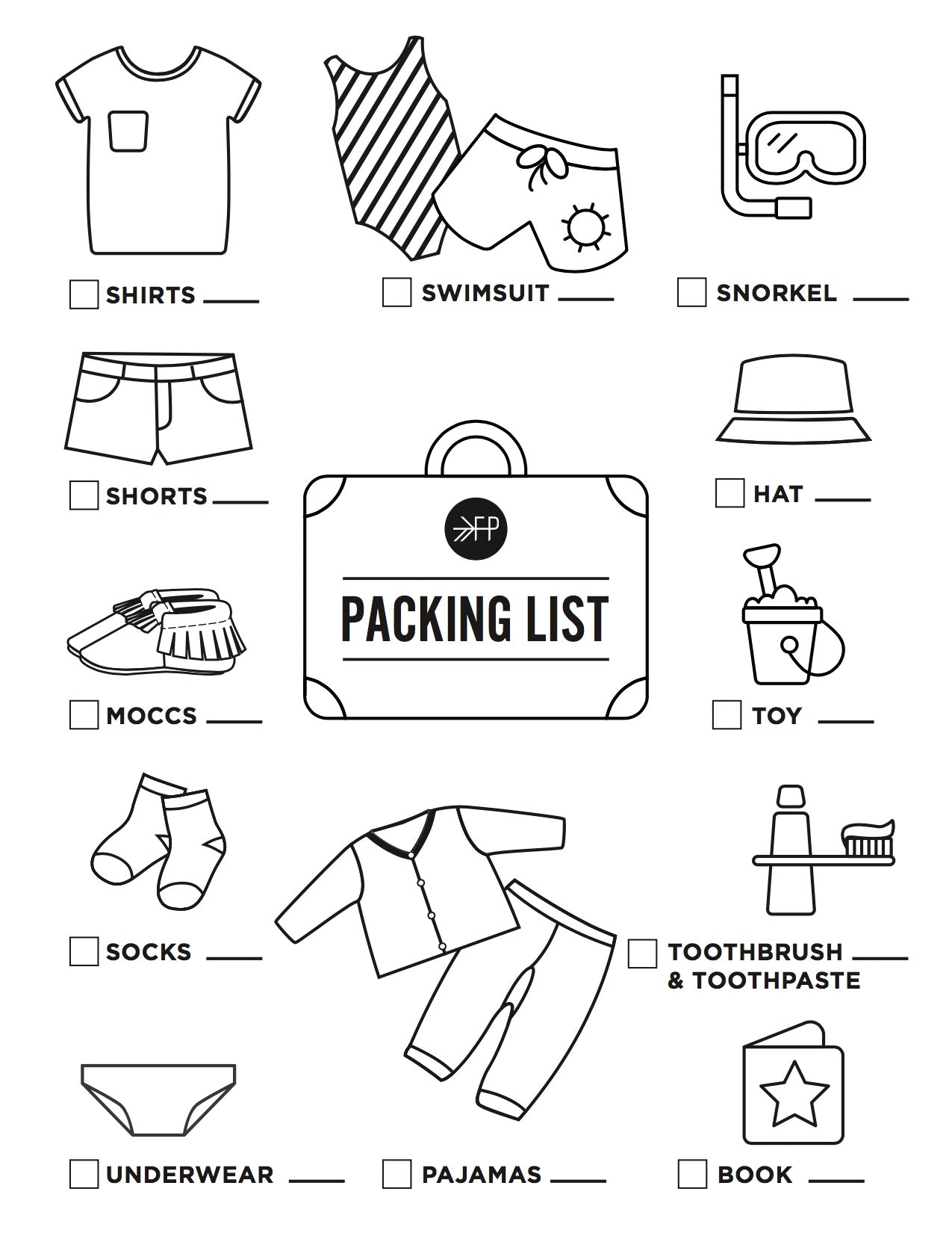 Packing List Printable