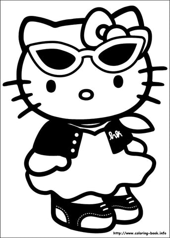 coloring pages hello kitty summer clothes | Hello Kitty Coloring Book – Freshly Picked