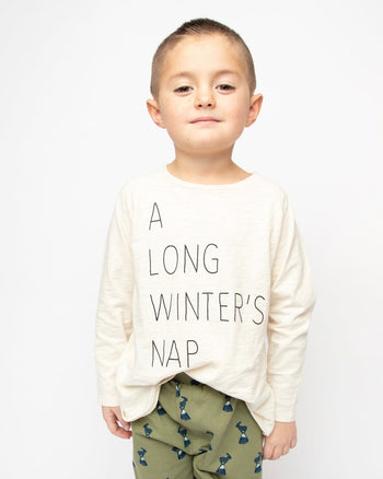 A Long Winter's Nap Long Sleeve Graphic Tee Kids - Long Sleeve Graphic Tee Kids Clothing