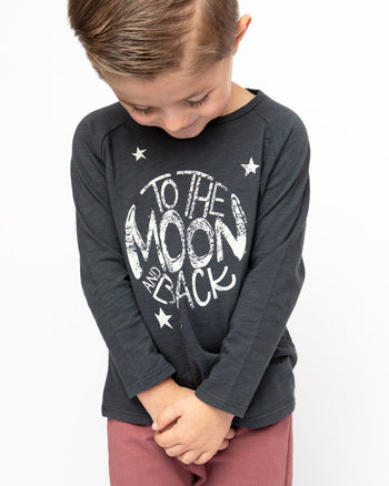 To The Moon And Back Long Sleeve Graphic Tee Kids - Long Sleeve Graphic Tee Kids Clothing