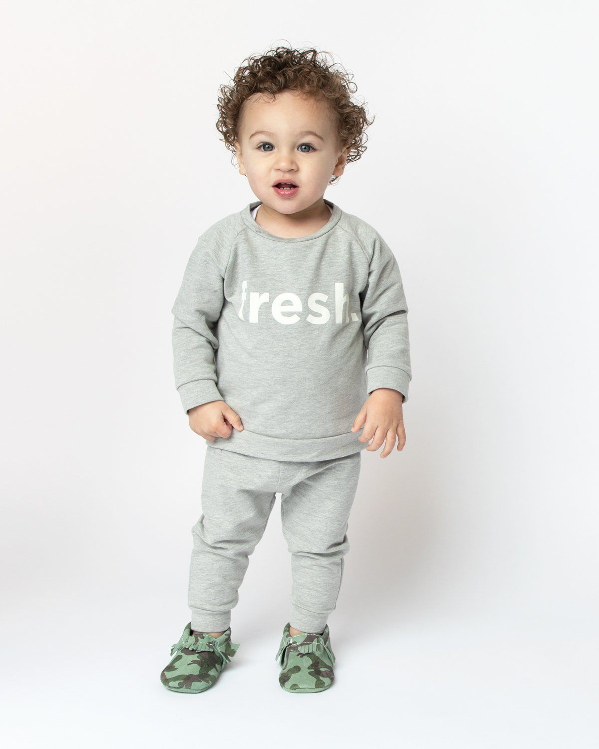 Heather Gray Banded Bottom Jogger Kids - Jogger Kids Clothing
