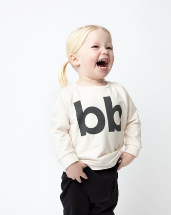 Cream BB Crew Sweatshirt Kids - Crew Sweatshirt Kids Clothing