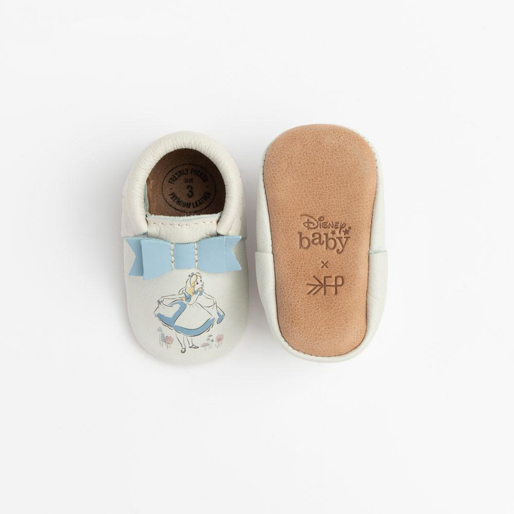 Newborn Alice Bow Mocc newborn soft sole
