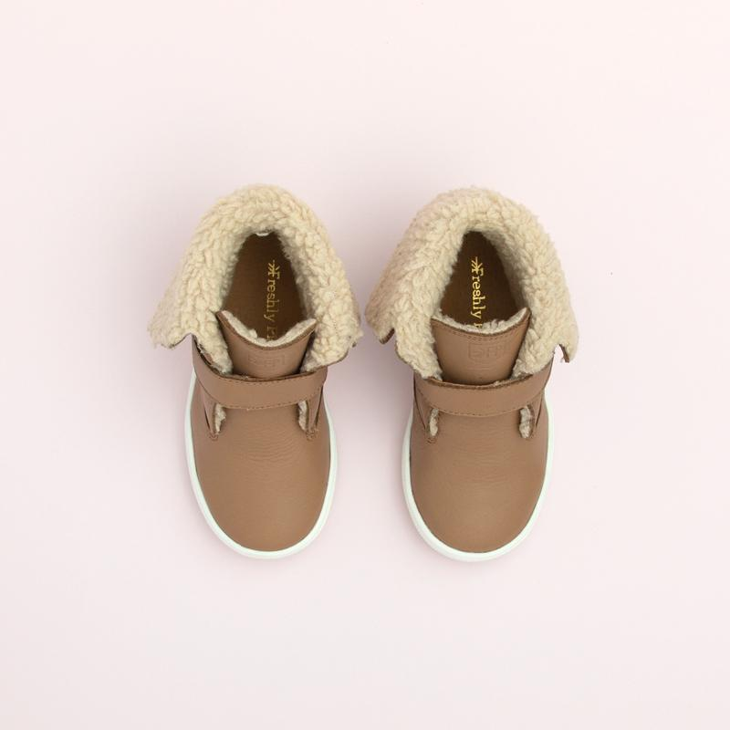 Almond Sherpa Boot Kids - Sherpa boot Kids Sneakers