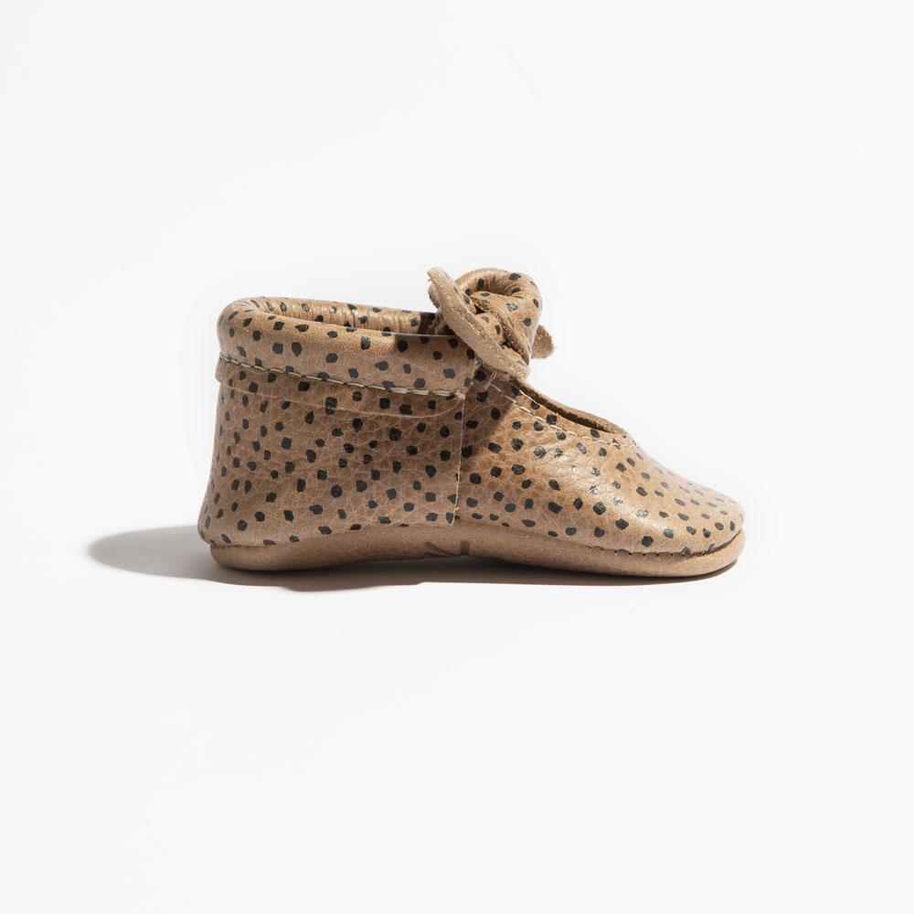 Almond Speckles Knotted Bow Mocc Mini Sole Knotted Bow Mocc Mini Sole