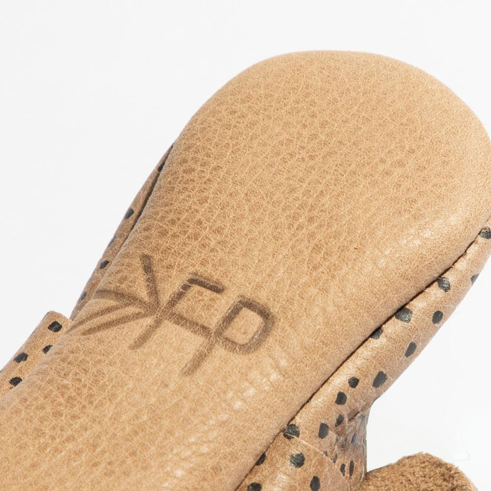Almond Speckles Knotted Bow Mocc Knotted Bow Mocc Soft Sole