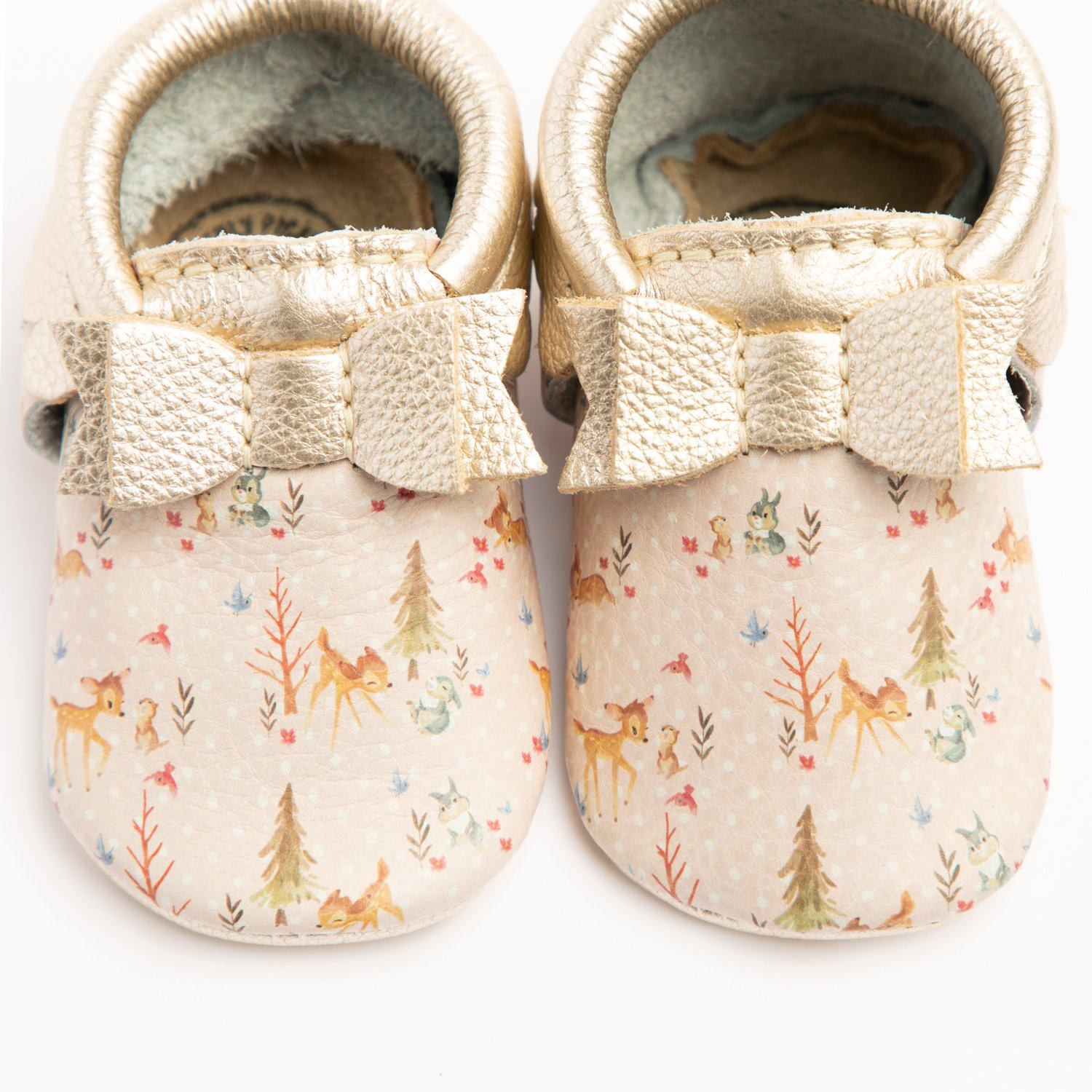 Bambi and Friends Bow Mocc Bow Moccasins Soft Soles