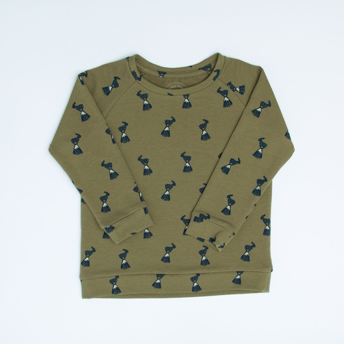 Olive Billy Goat Crew Sweatshirt