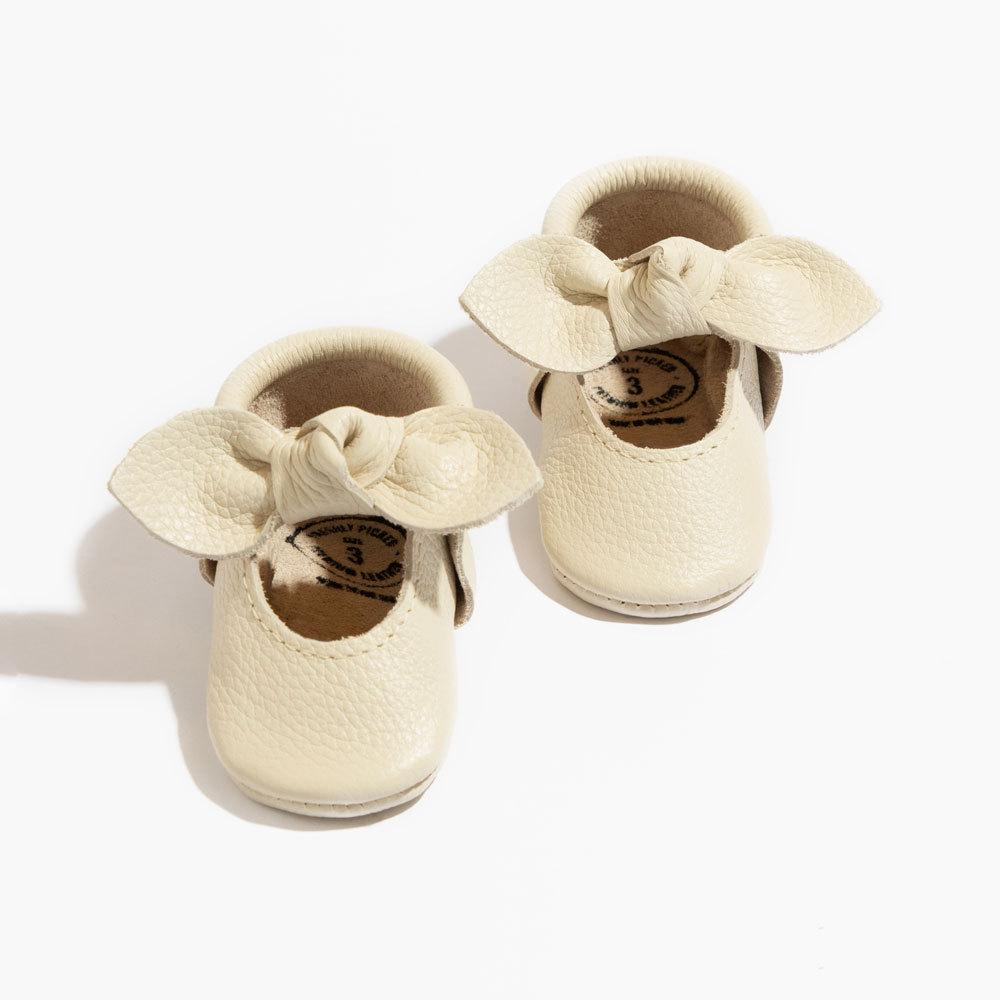Birch Knotted Bow Mocc Mini Sole knotted bow mocc mini soles