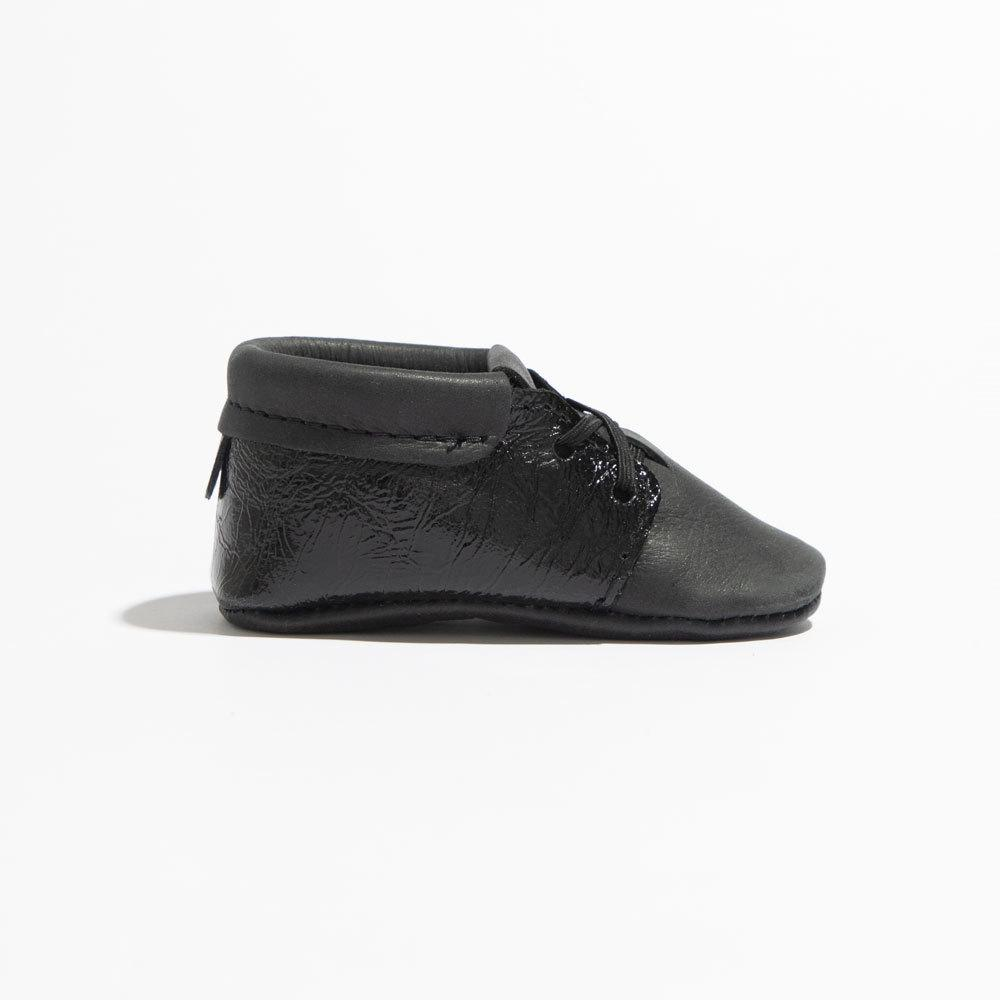 Black Patent Cap-Toe Oxford Oxford Soft Sole