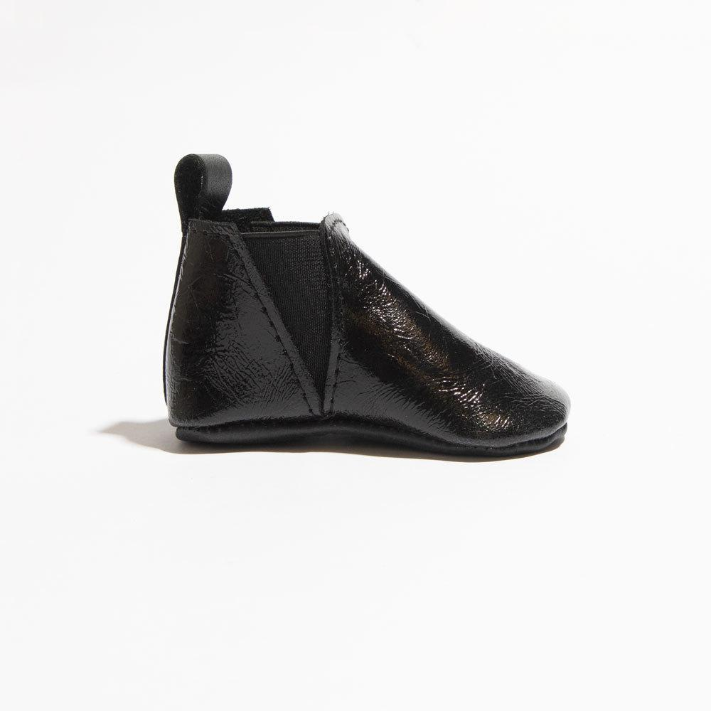 Black Patent Chelsea Boot Mini Sole Chelsea Boot Mini Sole
