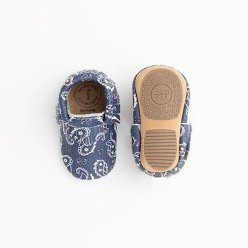 Blue Bandana Mini Sole Mini Sole Mocc Mini soles