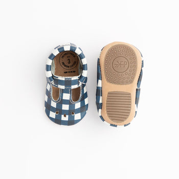 Blue Gingham Mary Jane Mini Sole | Pre-Order