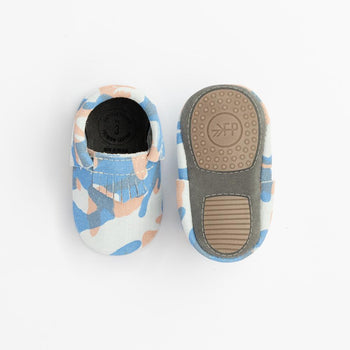 Blue and Orange Camo City Mocc Mini Sole