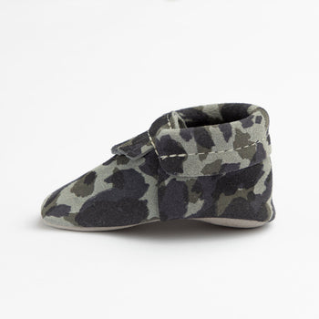 Blue Suede Camo City Mocc City Moccs soft sole