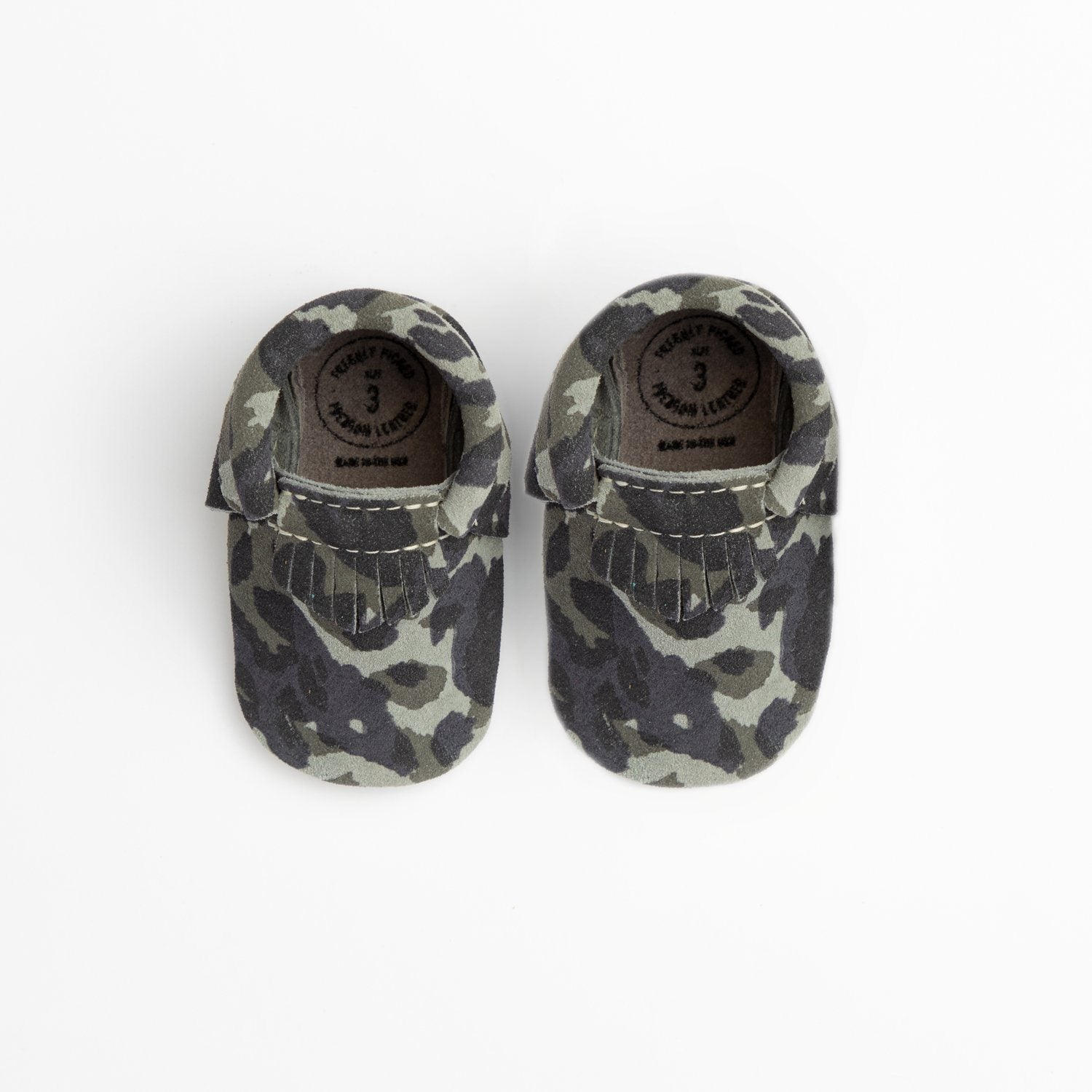 Blue Suede Camo City Mocc Mini Sole Mini Sole City Mocc Mini soles