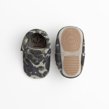 Blue Suede Camo City Mocc Mini Sole