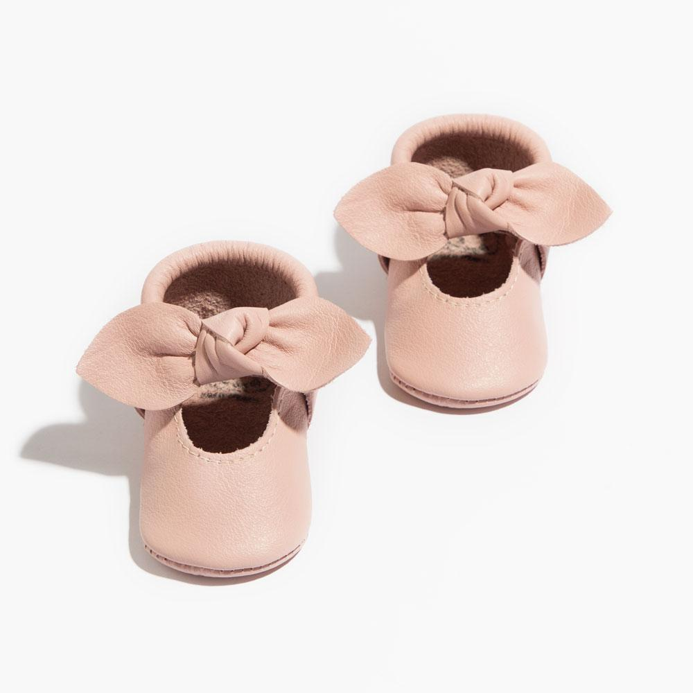 Blush Knotted Bow Mocc knotted bow mocc Soft Sole