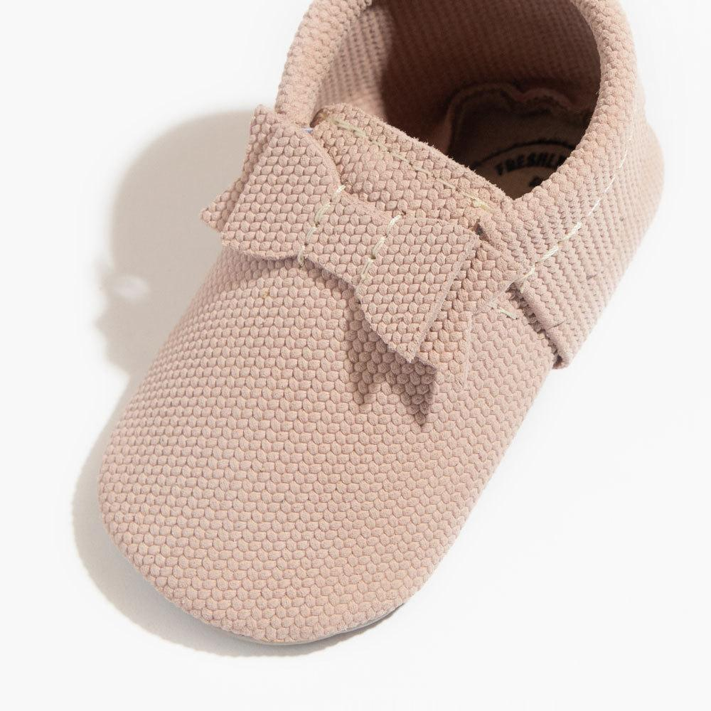 Blush Knit Bow Mocc bow mocc Soft Soles