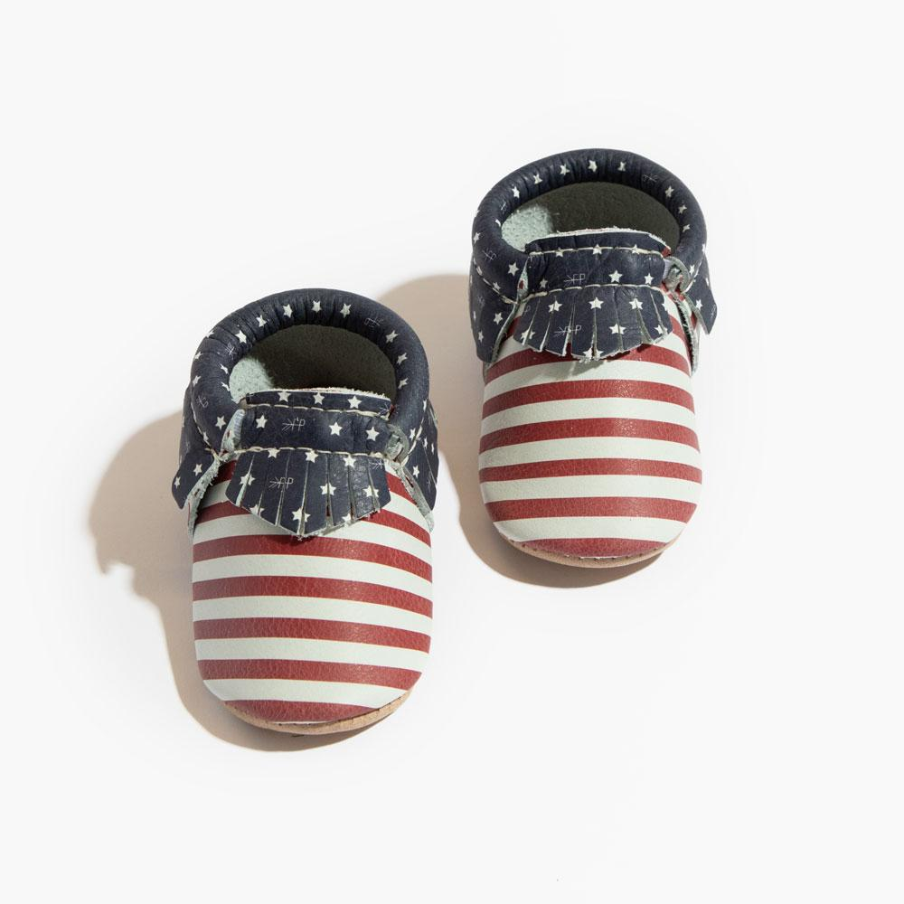 Born in the USA Moccasins Soft Soles