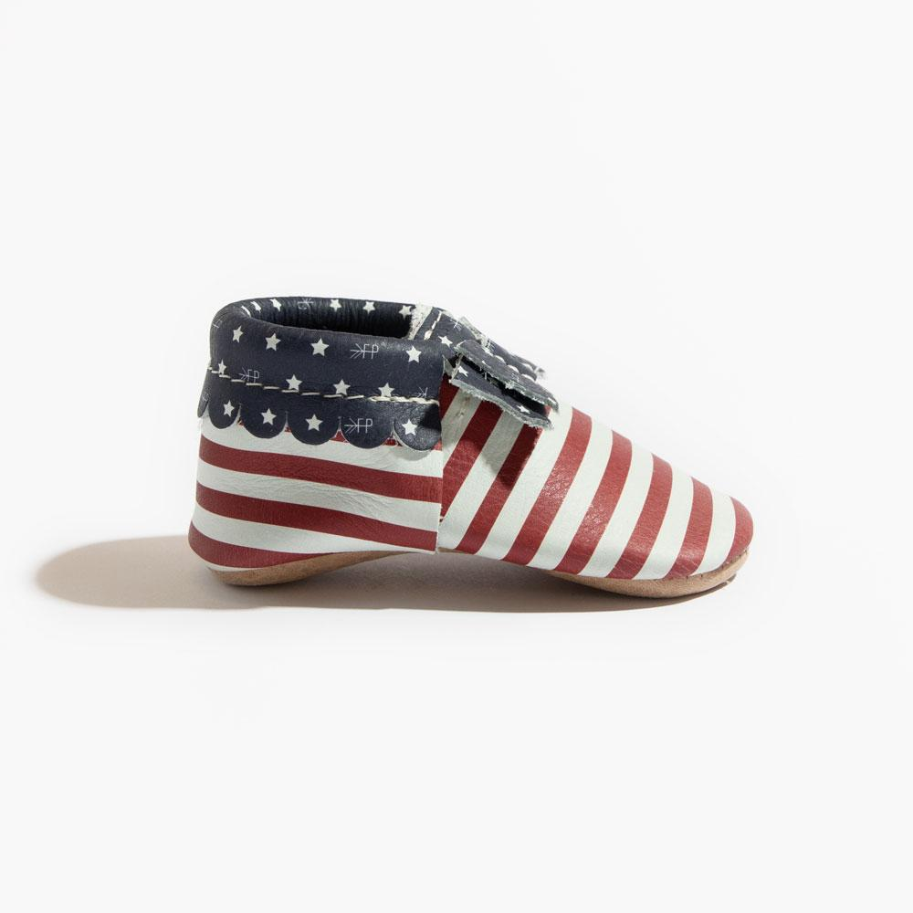 Born in the USA Bow Mocc Mini Sole Mini Sole Bow Moccasin Mini soles