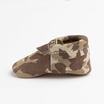 Brown Suede camo City Mocc Mini Sole