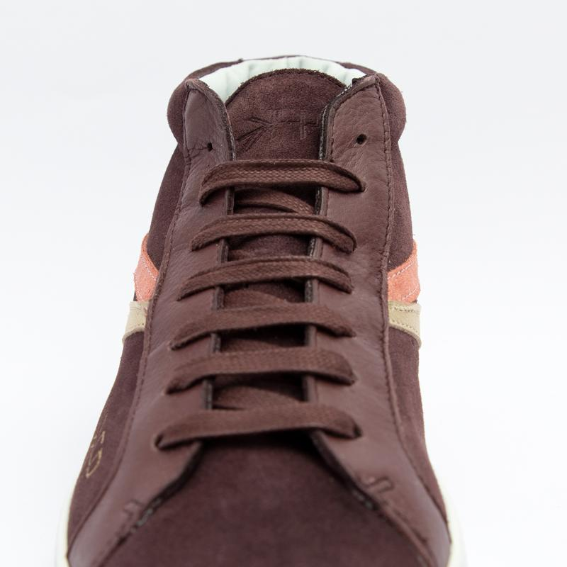 Women's Burgundy High Top Sneaker